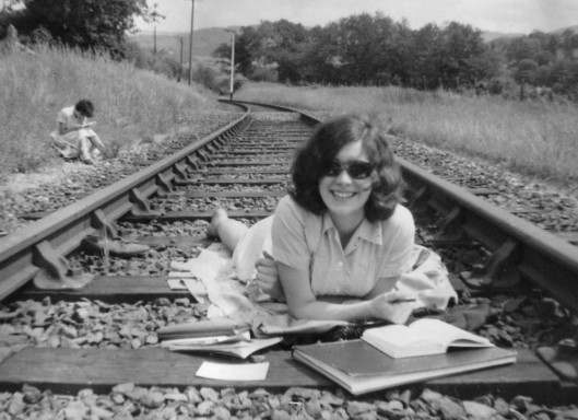 Revising on railway line, post Beeching Chris Sheffield c 1967 c Chris Davies (2)